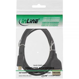 (€5,50*/1m) 1.80m InLine HDMI2.0 Anschlusskabel Premium-Line Micro HDMI Stecker auf HDMI-Stecker Schwarz Superslim / vergoldet
