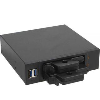 """InLine Frontpanel für den DVD-Schacht 2-fach 6,3cm/2,5"""" HDD Slots 2x USB 3.0 schwarz"""