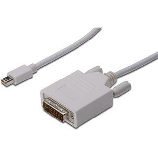 (€5,95*/1m) 2.00m Digitus Displayport Adapterkabel Mini Displayport Stecker auf DVI 24+1 Stecker Weiß