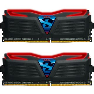 32GB GeIL GWB432GB2400C16DC rote LED DDR4-2400 DIMM CL16 Dual Kit