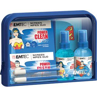 Emtec 2x Mini-Spray, 10+10 (x4) Reinigungstücher