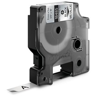 Dymo strapazierfähiges Polyesterband S0718170 / 18485 für Rhino Etikettendrucker, 9 mm x 5,5 m, metallisiert