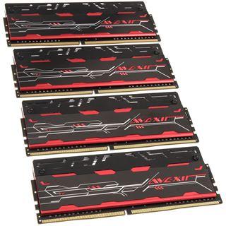 16GB Avexir Blitz Series rot DDR4-3000 DIMM CL16 Quad Kit