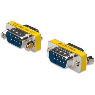 Digitus Seriell Gender Changer D-Sub 9pol Stecker auf D-Sub 9pol Stecker Silber