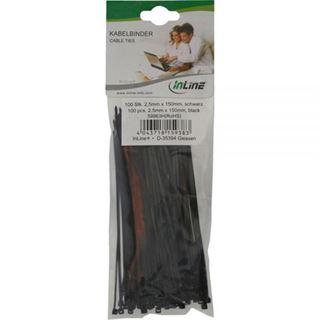 InLine Kabelbinder, Länge 150mm, Breite 2,5mm, 100 Stück schwarz