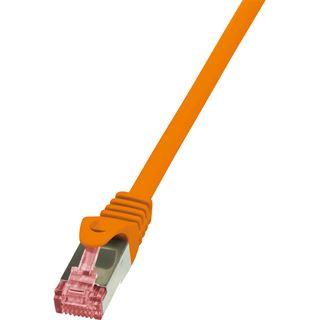(€3,90*/1m) 1.00m LogiLink Cat. 6 Patchkabel S/FTP PiMF RJ45 Stecker auf RJ45 Stecker Orange halogenfrei / Twisted Pair