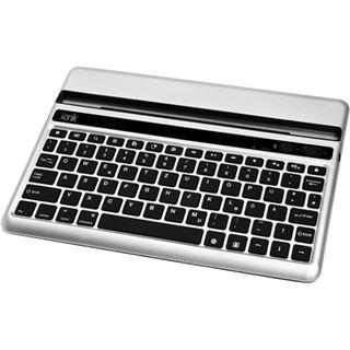 i.onik iPad 2 und iPad 3 Tastatur Bluetooth Deutsch silber/schwarz (kabellos)