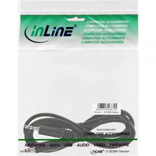 (€1,30*/1m) 3.00m InLine Audio Anschlusskabel 3.5mm Klinken-Stecker auf 3.5mm Klinken-Stecker Schwarz