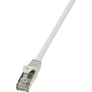 (€0,30*/1m) 30.00m LogiLink Cat. 5e Patchkabel SF/UTP RJ45 Stecker auf RJ45 Stecker Grau vergoldete Stecker
