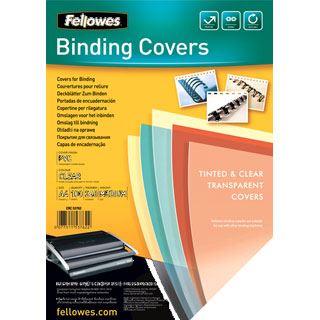 Fellowes Deckblatt, DIN A4, PVC, transparent, 0,24 mm