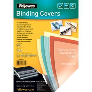 Fellowes Deckblatt, DIN A4, PVC, blau-transparent, 0,20 mm