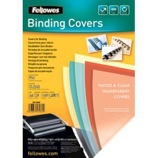 Fellowes Deckblatt DIN A4 PVC transparent 0.18mm / 25 Stück