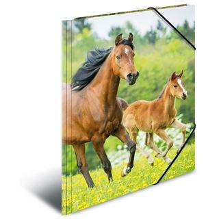 "Herma Eckspannermappe ""Pferde"", aus PP, DIN A4"