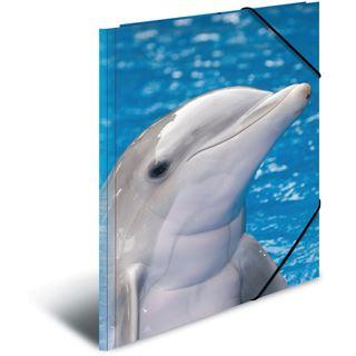 """Herma Eckspannermappe """"Delfine"""", aus PP, DIN A4"""