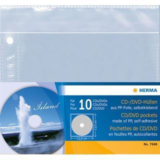 Herma CD-/DVD-Prospekthülle, PP, zum Abheften, 145 x 135 mm