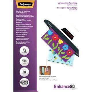 Fellowes Laminierfolientasche Peel & Stick, DIN A3, 160 mic