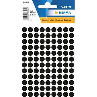 Herma Markierungspunkte, Durchmesser: 8 mm, schwarz