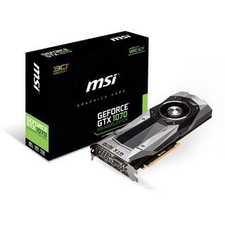 8GB MSI GeForce GTX 1070 Founders Edition Aktiv PCIe 3.0 x16 (Retail)