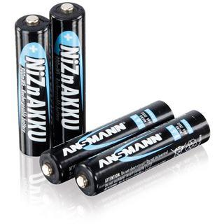 ANSMANN HR03 Nickel-Zink AAA Micro Akku 550 mAh 4er Pack bulk