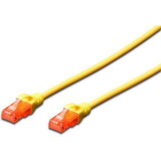 (€3,90*/1m) 1.00m Digitus Cat. 6 Patchkabel U/UTP RJ45 Stecker auf RJ45 Stecker Gelb Knickschutzelement
