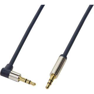 (€4,90*/1m) 1.00m LogiLink Audio Anschlusskabel gewinkelt 3.5mm Klinken-Stecker auf 3.5mm Klinken-Stecker Blau