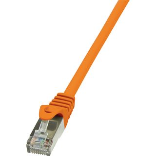(€0,98*/1m) 5.00m LogiLink Cat. 6 Patchkabel F/UTP RJ45 Stecker auf RJ45 Stecker Orange vergoldet
