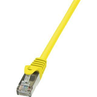 (€0,69*/1m) 10.00m LogiLink Cat. 6 Patchkabel F/UTP RJ45 Stecker auf RJ45 Stecker Gelb vergoldet