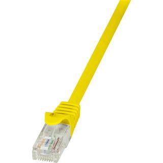 (€1,95*/1m) 2.00m LogiLink Cat. 5e Patchkabel U/UTP RJ45 Stecker auf RJ45 Stecker Gelb Polybag / ungeschirmt