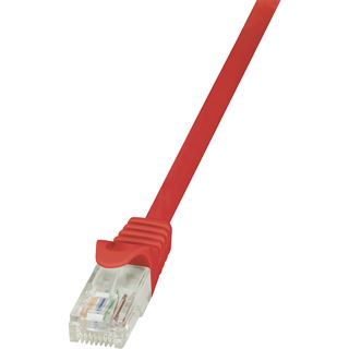 (€15,60*/1m) 0.25m LogiLink Cat. 6 Patchkabel U/UTP RJ45 Stecker auf RJ45 Stecker Rot vergoldet