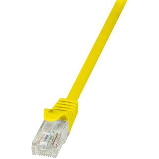 (€1,63*/1m) 3.00m LogiLink Cat. 6 Patchkabel U/UTP RJ45 Stecker auf RJ45 Stecker Gelb vergoldet