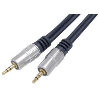 (€3,30*/1m) 3.00m ShiverPeaks Audio Anschlusskabel Professional 3.5mm Klinken-Stecker auf 3.5mm Klinken-Stecker Blau vergoldet