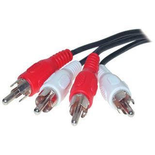 (€0,98*/1m) 5.00m ShiverPeaks Audio Anschlusskabel 2xCinch Stecker auf 2xCinch Stecker Schwarz vernickelt