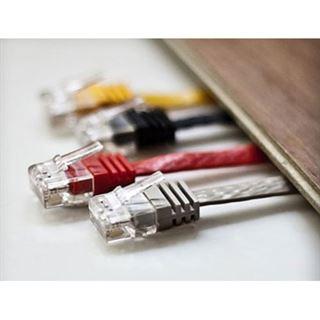 (€0,69*/1m) 10.00m ShiverPeaks Cat. 6 Anschlusskabel U/UTP RJ45 Stecker auf RJ45 Stecker Grau flach