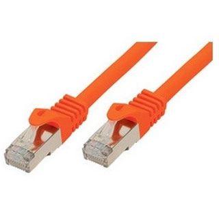 (€9,80*/1m) 0.50m ShiverPeaks Cat. 7 Rohkabel Patchkabel S/FTP PiMF RJ45 Stecker auf RJ45 Stecker Orange halogenfrei / vergoldet