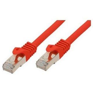 (€9,80*/1m) 0.50m ShiverPeaks Cat. 7 Rohkabel Patchkabel flach S/FTP PiMF RJ45 Stecker auf RJ45 Stecker Rot Rastnasenschutz