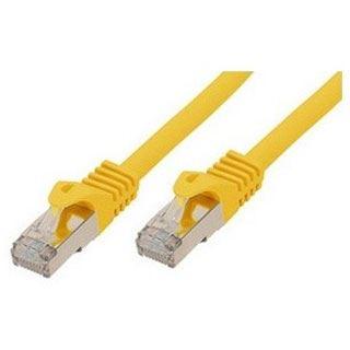 (€9,80*/1m) 0.50m ShiverPeaks Cat. 7 Rohkabel Patchkabel S/FTP PiMF RJ45 Stecker auf RJ45 Stecker Gelb halogenfrei / vergoldet