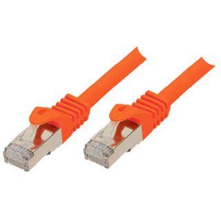 3.00m ShiverPeaks Cat. 7 Rohkabel Patchkabel S/FTP PiMF RJ45 Stecker auf RJ45 Stecker Orange halogenfrei / vergoldet