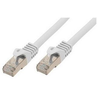 (€2,30*/1m) 3.00m ShiverPeaks Cat. 7 Rohkabel Patchkabel S/FTP PiMF RJ45 Stecker auf RJ45 Stecker Weiß halogenfrei / vergoldet