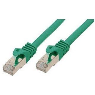 (€0,86*/1m) 15.00m ShiverPeaks Cat. 7 Rohkabel Patchkabel S/FTP PiMF RJ45 Stecker auf RJ45 Stecker Grün halogenfrei / vergoldet
