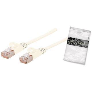 (€1,19*/1m) 7.50m ShiverPeaks Cat. 7 Rohkabel Anschlusskabel U/FTP RJ45 Stecker auf RJ45 Stecker Weiß flach