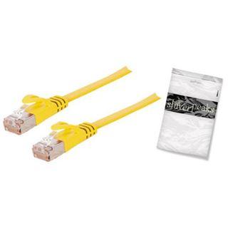 (€1,19*/1m) 7.50m ShiverPeaks Cat. 7 Rohkabel Anschlusskabel U/FTP RJ45 Stecker auf RJ45 Stecker Gelb flach