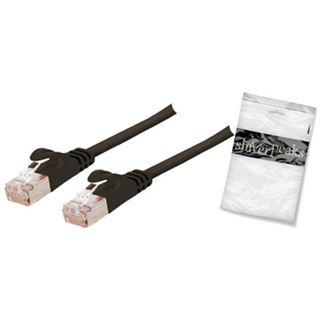 (€0,79*/1m) 15.00m ShiverPeaks Cat. 7 Rohkabel Anschlusskabel U/FTP RJ45 Stecker auf RJ45 Stecker Schwarz flach