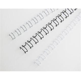 GBC Drahtbinderücken WireBind, A4, 21 Ringe, 12 mm, weiß