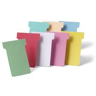 nobo T-Karten, Größe 3 / 92 mm, 170 g/qm, rot