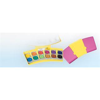 Pelikan Deckfarbkasten ProColor 735, 12 Farben, gelb