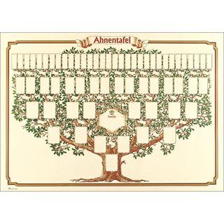 """RNK Verlag Schmuck-Ahnentafel """"Skizzierter Baum"""", 70 x 50 cm"""
