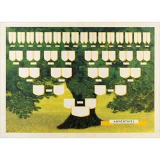 """RNK Verlag Schmuck-Ahnentafel """"Grüner Baum"""", 70 x 50 cm"""