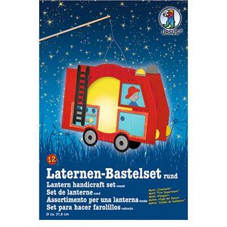 """URSUS Laternen-Bastelset """"Feuerwehr"""""""