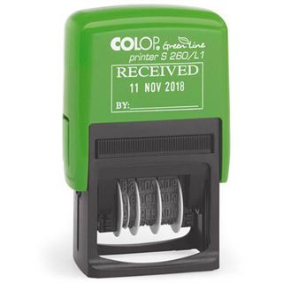 """COLOP Datumstempel """"Green Line"""" Printer S260/L1 """"EINGANG"""""""
