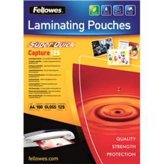 Fellowes Laminierfolientasche Super Quick, DIN A4, 250 mic